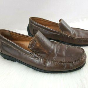 Ecco Brown Leather Driving Loafers